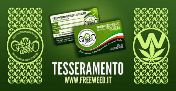 Tesseramento Soci Sostenitori Associazione FreeWeed Board