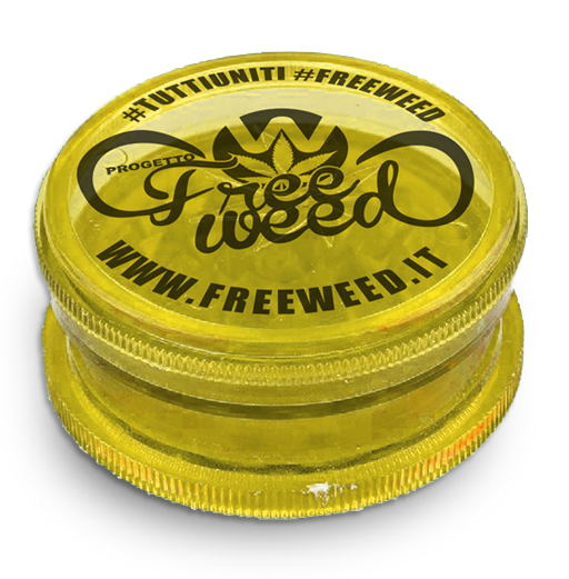 Tobacco Grinder Progetto FreeWeed - Giallo