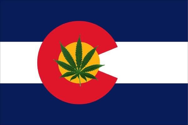 Bandiera del colorado cannabis