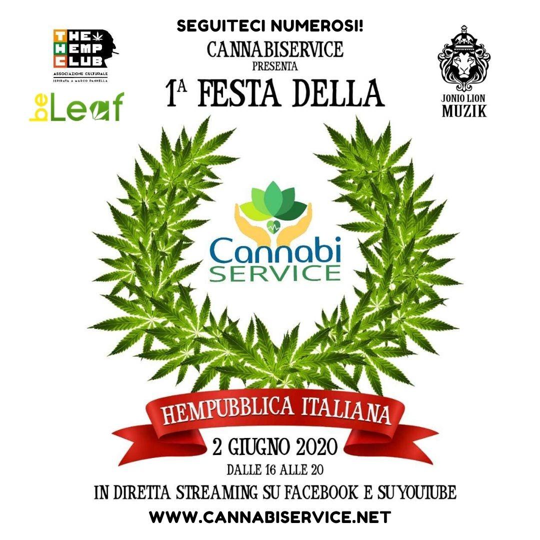 2 giugno 2020: Festa dell'Hempubblica (Streaming) organizzata da Cannabiservice