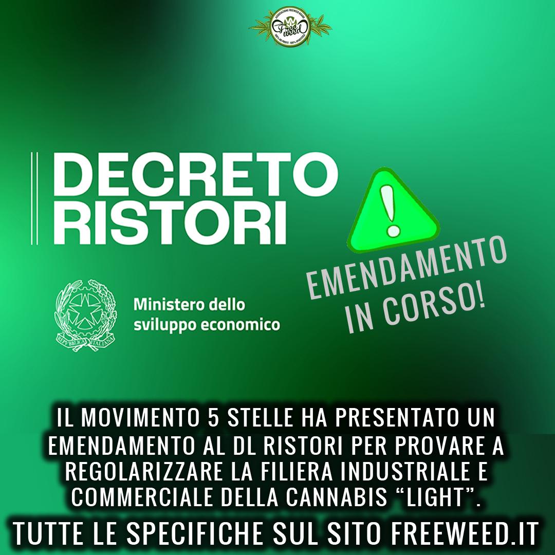 """Il tentativo di regolarizzare la """"Cannabis Light"""" nel DL Ristori"""